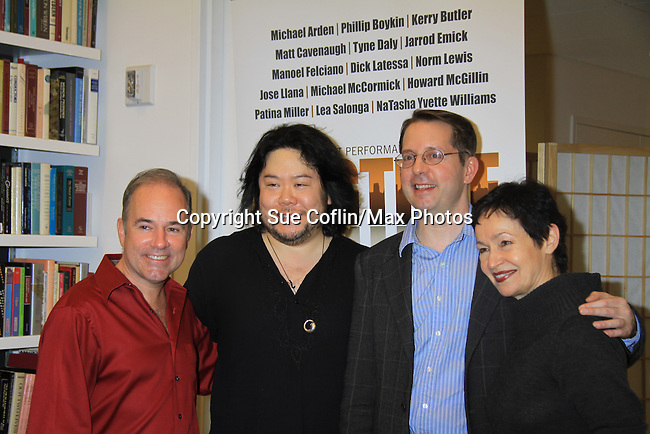 """Rehearsals for Ragtime starring One Life To Live Kerry Butler """"Claudia Reston"""", Dick Latessa (Edge of Night), Matt Cavanaugh (also As The World Turns """"Adam Munson""""), General Hospital Tyne Daly """"Caroline"""", All My Children Norm Lewis """"Keith McLean"""" & now Scandal, As The World Turns Lea Salonga """"Lien Hughes"""", Young and the Restless Howard McGillan """"Snapper's brother - Greg Foster"""" on February 11, 2013 for a concert at Avery Fisher Hall, New York City, New York on Monday February 18, 2013. (Photo by Sue Coflin/Max Photos)"""