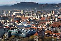 Blick vom Schlossberg, Graz, Steiermark, &Ouml;sterreich<br /> View from Schlossberg, Graz, Styria, Austria Blick vom Schlossberg, Graz, Steiermark, &Ouml;sterreich, , UNESCO-Weltkulturerbe<br /> View from Schlossberg, Graz, Styria, Austria, heritage site