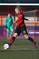 Leah Galton of Manchester United Women during Brighton & Hove Albion Women vs Manchester United Women, SSE Women's FA Cup Football at Broadfield Stadium on 3rd February 2019