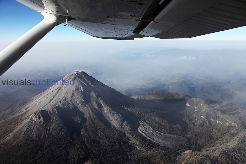 Aerial image of Colima Volcano, Mexico