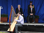 Michael O'Neill plays the harp at the Famine Commemoration in Drogheda. Photo: Colin Bell/pressphotos.ie
