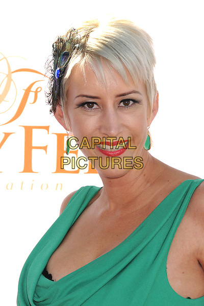 Jennifer Hill<br /> 3rd Annual Dizzy Feet &quot;Celebration of Dance&quot; Gala held at the Dorothy Chandler Pavilion,  Los Angeles, California, USA, 27th July 2013.<br /> portrait headshot feather peacock hair slide clip green <br /> CAP/ADM/BP<br /> &copy;Byron Purvis/AdMedia/Capital Pictures