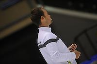 SCHAATSEN: HEERENVEEN: 18-09-2014, IJsstadion Thialf, Topsporttraining, Johan de Wit (trainer Team NewBalance), ©foto Martin de Jong