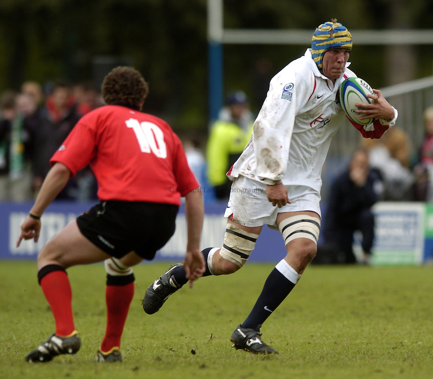 Photo. Jed Wee..England U21 v Wales U21, IRB U21 World Championship, 19/06/2004..England's James Percival.