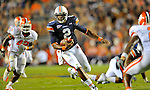 Bob Gathany / The Huntsville TImes - Auburn vs. Clemson football at Jordan Hare Stadium Saturday sept, 18, 2010. Cam Newton runs with the ball.