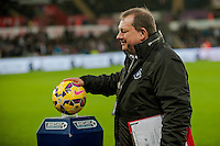 Sunday  14th   December 2014 <br /> Pictured: Kev Johns blesses the ball pre match <br /> Re: Barclays Premier League Swansea City v Tottenham Hotspur  at the Liberty Stadium, Swansea, Wales,UK