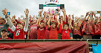 Hawgs Illustrated/BEN GOFF <br /> Arkansas fans call the Hogs before the football season opener against Florida A&M Thursday, Aug. 31, 2017, during the game at War Memorial Stadium in Little Rock.