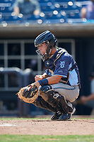 West Michigan Whitecaps catcher Brady Policelli (6) during a game against the Quad Cities River Bandits on July 23, 2018 at Modern Woodmen Park in Davenport, Iowa.  Quad Cities defeated West Michigan 7-4.  (Mike Janes/Four Seam Images)