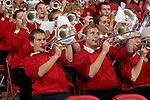 MADISON, WI - NOVEMBER 8: The band of the Wisconsin Badgers plays during the game against the Carroll College Pioneers at the Kohl Center on November 8, 2006 in Madison, Wisconsin. The Badgers beat the Pioneers 81-61. (Photo by David Stluka)