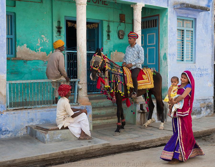 village scene, Narlai, Rajasthan, India