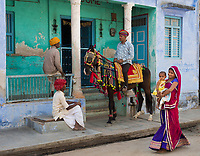 village scene, Narlai, Rajasthan, India