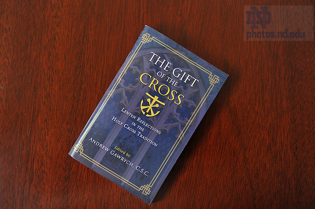 """""""The Gift of the Cross"""" book..Photo by Matt Cashore/University of Notre Dame"""
