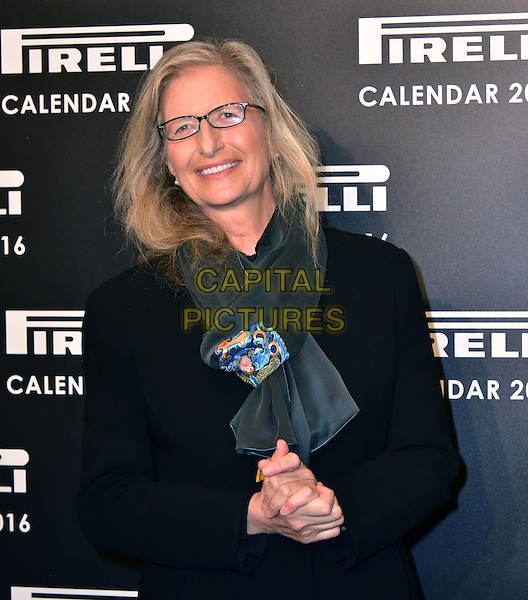 LONDON, ENGLAND - NOVEMBER 30: Annie Leibovitz at a photocall for the launch of the 2016 Pirelli calendar in London on November 30, 2015<br /> CAP/JOR<br /> &copy;JOR/Capital Pictures