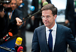 Brussels-Belgium - May 27, 2014 -- European Council, EU-summit, meeting of Heads of State / Government for an informal dinner to evaluate and to conclude the results of the European elections; here, arrival of Mark RUTTE, Prime Minister of The Netherlands -- Photo: © HorstWagner.eu