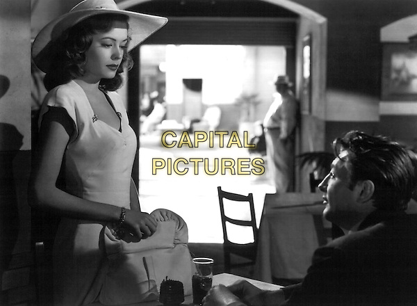Jane Greer & Robert Mitchum .in Out of the Past.*Filmstill - Editorial Use Only*.CAP/PLF.Supplied by Capital Pictures.