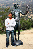 LOS ANGELES - JAN 20:  Jason George, Screen Actor's Guild Actor, Hollywood Sign at the AG Awards Actor Visits The Hollywood Sign at a Hollywood Hills on January 20, 2015 in Los Angeles, CA