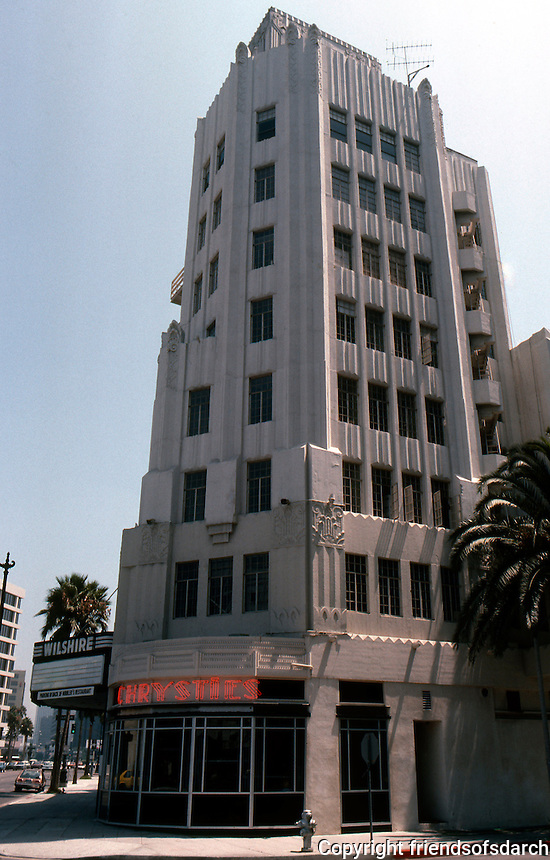 Movie Theatre: Los Angeles, Fox Wilshire, 1929. SE Corner Wilshire & Hamilton. S. Charles Lee, Arch.  Photo '82.