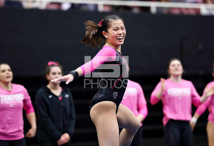 Stanford, CA; February 1, 2019; Women's Gymnastics, Stanford vs Washington.
