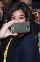 NEW YORK, NY - NOVEMBER 6: Gina Rodriguez seen leaving AOL's Build Series in New York City on November 6, 2017. Credit: RW/MediaPunch /NortePhoto.com