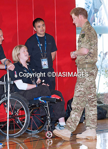 "***MINIMUM FEE APPLIES *** Except for those with pre-orders.                  MUST TELEPHONE 001323381 0786 FOR FEES..PRINCE HARRY.meets members of the British contingent at the Warrior Games in Colorado Springs, Olympic Park_11/05/2013.Prince Harry is on a week long USA visit the includes Washington, Denver, Colorado Springs, New Jersey, New York and Conneticut..Mandatory credit photo:©DIASIMAGES..(Failure to credit will incur a surcharge of 100% of reproduction fees)..**ALL FEES PAYABLE TO: ""NEWSPIX  INTERNATIONAL""**..Newspix International, 31 Chinnery Hill, Bishop's Stortford, ENGLAND CM23 3PS.Tel:+441279 324672.Fax: +441279656877.Mobile:  07775681153.e-mail: info@newspixinternational.co.uk"