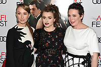 """16 November 2019 - Hollywood, California - Erin Doherty, Helena Bonham Carter, Olivia Colman. AFI FEST 2019 Presented By Audi – """"The Crown"""" Premiere held at TCL Chinese Theatre. Photo Credit: Billy Bennight/AdMedia"""