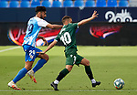 Ager Aketxe (RC Deportivo de la Coruna) and Juande (Malaga CF) competes for the ball during La Liga Smartbank match round 39 between Malaga CF and RC Deportivo de la Coruna at La Rosaleda Stadium in Malaga, Spain, as the season resumed following a three-month absence due to the novel coronavirus COVID-19 pandemic. Jul 03, 2020. (ALTERPHOTOS/Manu R.B.)