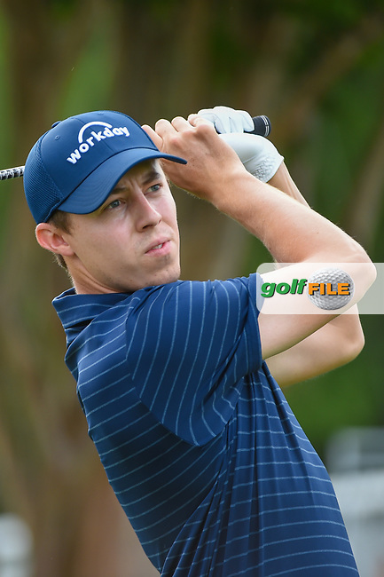 Matt Fitzpatrick (ENG) watches his tee shot on 10 during round 1 of the 2019 Charles Schwab Challenge, Colonial Country Club, Ft. Worth, Texas,  USA. 5/23/2019.<br /> Picture: Golffile | Ken Murray<br /> <br /> All photo usage must carry mandatory copyright credit (© Golffile | Ken Murray)