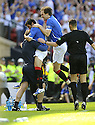 30/05/2009  Copyright  Pic : James Stewart.sct_jspa_09_rangers_v_falkirk.NACHO NOVO CELEBRATES AFTER SCORING THE ONLY GOAL OF THE GAME.James Stewart Photography 19 Carronlea Drive, Falkirk. FK2 8DN      Vat Reg No. 607 6932 25.Telephone      : +44 (0)1324 570291 .Mobile              : +44 (0)7721 416997.E-mail  :  jim@jspa.co.uk.If you require further information then contact Jim Stewart on any of the numbers above.........