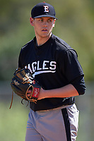 Edgewood Eagles pitcher Erick Wendt (29) during the second game of a doubleheader against the Plymouth State Panthers on April 17, 2016 at Lee County Player Development Complex in Fort Myers, Florida.  Plymouth State defeated Edgewood 16-3.  (Mike Janes/Four Seam Images)
