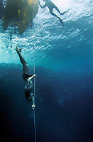 "Johan Dahlström (Sweden) during freediving competition ""Bizzy Blue Hole""  in Dahab,Sinai in Egypt. © Fredrik Naumann/Felix Features"