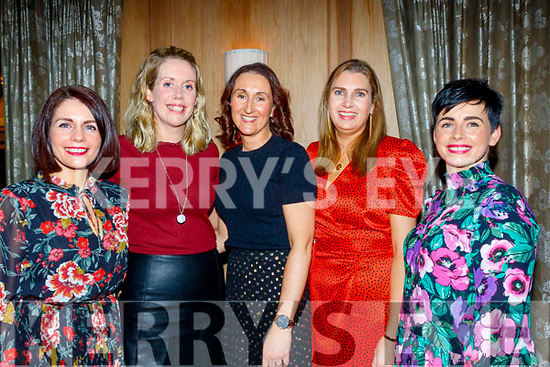 Looking good at the Cordal GAA annual barbecue in the Ballygarry house hotel, Tralee last Saturday night, L-R Kathleen McCarthy, Linda O'Connor, Mary Nolan, katie O'donoghue and Bridgett Egan.