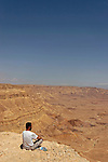 Israel, the Negev desert. A view of the Small Crater