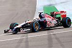 JEREZ. SPAIN. FORMULA 1<br />2013/14 en el Circuito de Jerez 31/01/2014 La imagen muestra a Daniil Kvyat  de Toro Rosso LP / Photocall3000