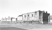3/4 front view of Rotary OM with auxillary water car and three box cars.<br /> D&amp;RGW  Chama, NM  Taken by Richardson, Robert W. - 9/10/1946