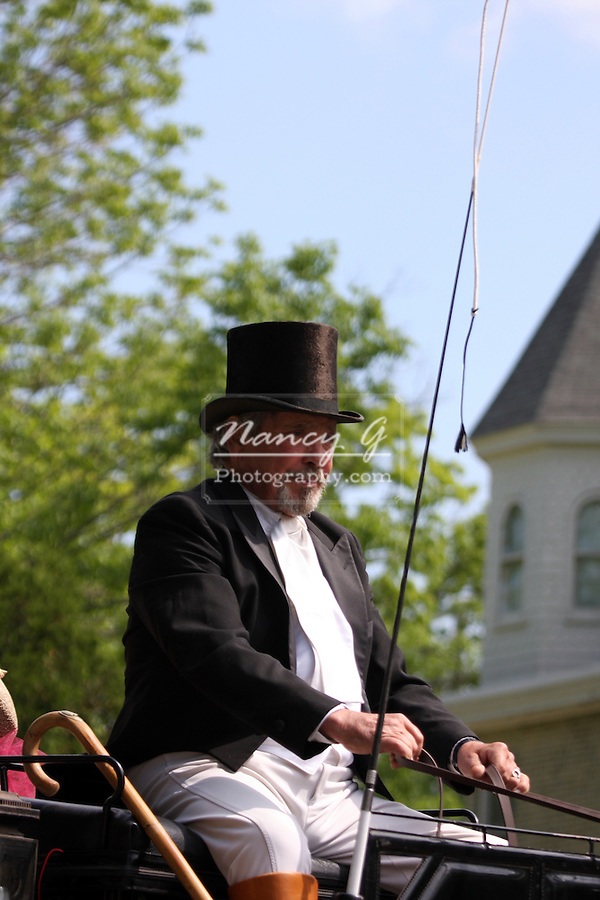 A civil war era carriage driver at an reactment