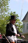 A civil war era carriage driver at an reactment