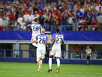 ARLINGTON, TEXAS - Saturday July 22, 2017: Clint Dempsey #28 of USMNT celebrates scoring a goal in the second half of the match against the Costa Rica National Team at AT&T Stadium.