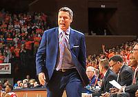 Virginia head coach Tony Bennett reacts to a call during the game against North Carolina State Wednesday Jan. 7, 2015 in Charlottesville, Va.