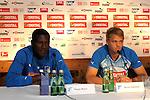 Leogang &Ouml;sterreich 29.07.2010, 1.Fu&szlig;ball Bundesliga Testspiel, TSG 1899 Hoffenheim Pressekonferenz, Hoffenheims Peniel Mlapa und Hoffenheims Boris Vukcevic bei der Pressekonferenz<br /> <br /> Foto &copy; Rhein-Neckar-Picture *** Foto ist honorarpflichtig! *** Auf Anfrage in h&ouml;herer Qualit&auml;t/Aufl&ouml;sung. Belegexemplar erbeten. Ver&ouml;ffentlichung ausschliesslich f&uuml;r journalistisch-publizistische Zwecke.