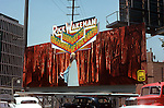 Rick Wakeman billboard on the Sunset Strip in Los Angeles, California circal 1974