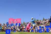 Mel Reid of Team EU Women in action on day 2 at the GolfSixes played at The Centurion Club, St Albans, England. <br /> 06/05/2018.<br /> Picture: Golffile | Phil Inglis<br /> <br /> <br /> All photo usage must carry mandatory copyright credit (&copy; Golffile | Phil Inglis)