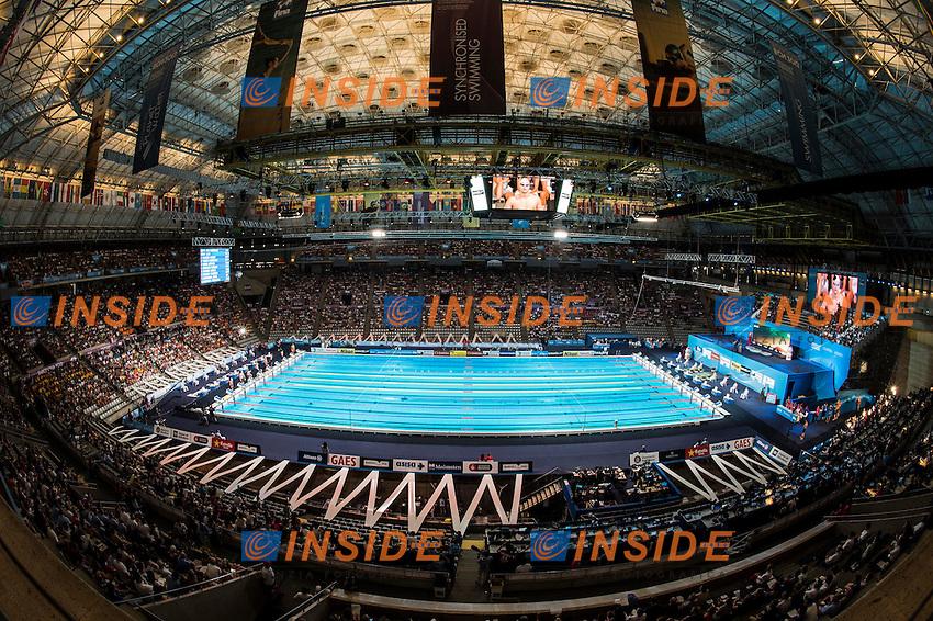 venue Palau Sant Jordi<br /> panoramics<br /> 15th FINA World Aquatics Championships<br /> Day-14 swimming finals<br /> Barcelona 19 July - 4 August 2013<br /> Photo G.Scala/Insidefoto/Deepbluemedia.eu