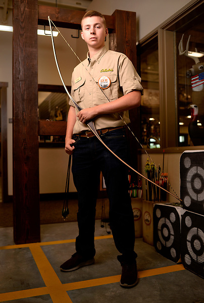 Bow Technician Ryan Merry at Cabella's archery range.