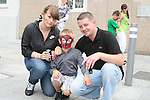 Isabell, Adam and Patal at the Samba Festival on West Street...Photo NEWSFILE/Jenny Matthews.(Photo credit should read Jenny Matthews/NEWSFILE)....This Picture has been sent you under the condtions enclosed by:.Newsfile Ltd..The Studio,.Millmount Abbey,.Drogheda,.Co Meath..Ireland..Tel: +353(0)41-9871240.Fax: +353(0)41-9871260.GSM: +353(0)86-2500958.email: pictures@newsfile.ie.www.newsfile.ie.FTP: 193.120.102.198.