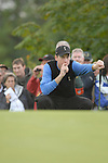 Ryder Cup 206 K Club, Straffan, Ireland..American Ryder Cup team player JKim Furyk lines up his putt on the 3rd green during  the  morning fourballs session of the second day of the 2006 Ryder Cup at the K Club in Straffan, Co Kildare, in the Republic of Ireland, 23 September 2006...Photo: Eoin Clarke/ Newsfile.