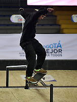 BOGOTA - COLOMBIA - 12 - 08 - 2017: Juan Pablo Velez, Skater, de Colombia, durante competencia en el Primer Campeonato Panamericano de Skateboarding, que se realiza en el Palacio de los Deportes en la Ciudad de Bogota. / Juan Pablo Velez, Skater, from Colombia, during a competitions in the First Pan American Championship of Skateboarding, that takes place in the Palace of Sports in the City of Bogota. Photo: VizzorImage / Luis Ramirez / Staff.