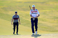 Lucas Bjerregaard (DEN), Stuart Manley (WAL) on the 2nd green during the 1st round of the 2017 Portugal Masters, Dom Pedro Victoria Golf Course, Vilamoura, Portugal. 21/09/2017<br /> Picture: Fran Caffrey / Golffile<br /> <br /> All photo usage must carry mandatory copyright credit (&copy; Golffile | Fran Caffrey)