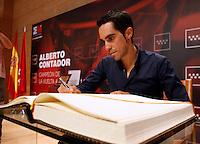15/09/2014<br /> CASA REAL DE CORREOS<br /> Alberto Contador en la Comunidad de Madrid