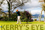 David Daly from Waterville Golf Club driving off the tee at the Jimmy Burren West Munster Qualifier at the Killarney Golf and Fishing Club last Saturday morning.