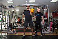 Fit 6 Personal Trainers Routine at The Gym, High Wycombe, England on 1 April 2016. Photo by Andy Rowland.